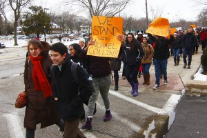 Students call for change at march, demonstration