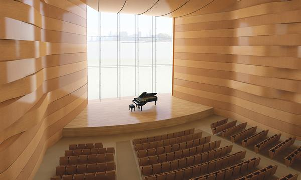 The Robert W. Galvin Foundation donated $6 million to the University for construction of the new building for the Bienen School of Music and the School of Communication. In recognition of the gift, the University will name the building's recital hall in honor of Mary B. Galvin (Comminication '45).