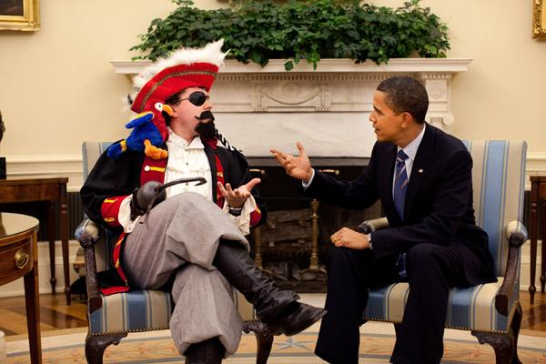 Cody Keenan (Weinberg '02) dressed up as a pirate for a photo taken in the Oval Office with Barack Obama. It was used at Obama's humorous speech to the White House in 2009.