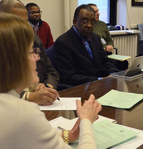 Evanston Mayor Elizabeth Tisdahl speaks at the Mayor's Youth Task Force meeting on Thursday. Ideas to combat youth violence and increase summer employment were discussed at the task force's first meeting of the year.