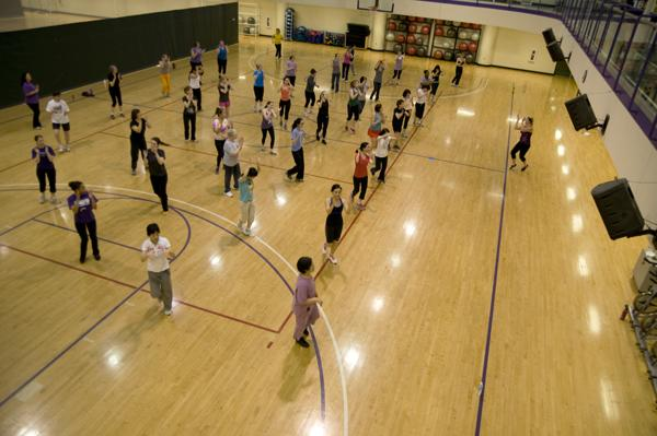 A Zumba class, open to students and residents, is taught at the Crown Sports and Aquatics Center. ASG announced that Zumba classes will also be available at Parkes Hall in the spring.