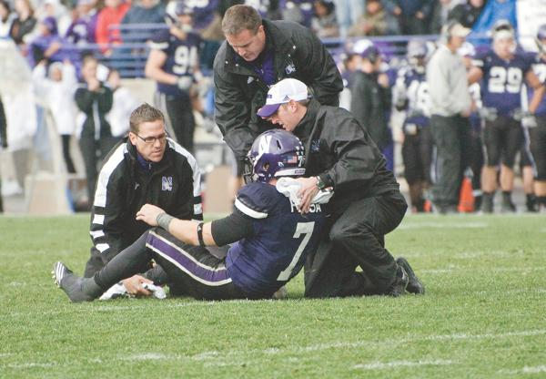 A promising season was shattered when quarterback Dan Persa tore his achilles after throwing a game-winning touchdown pass against Iowa.