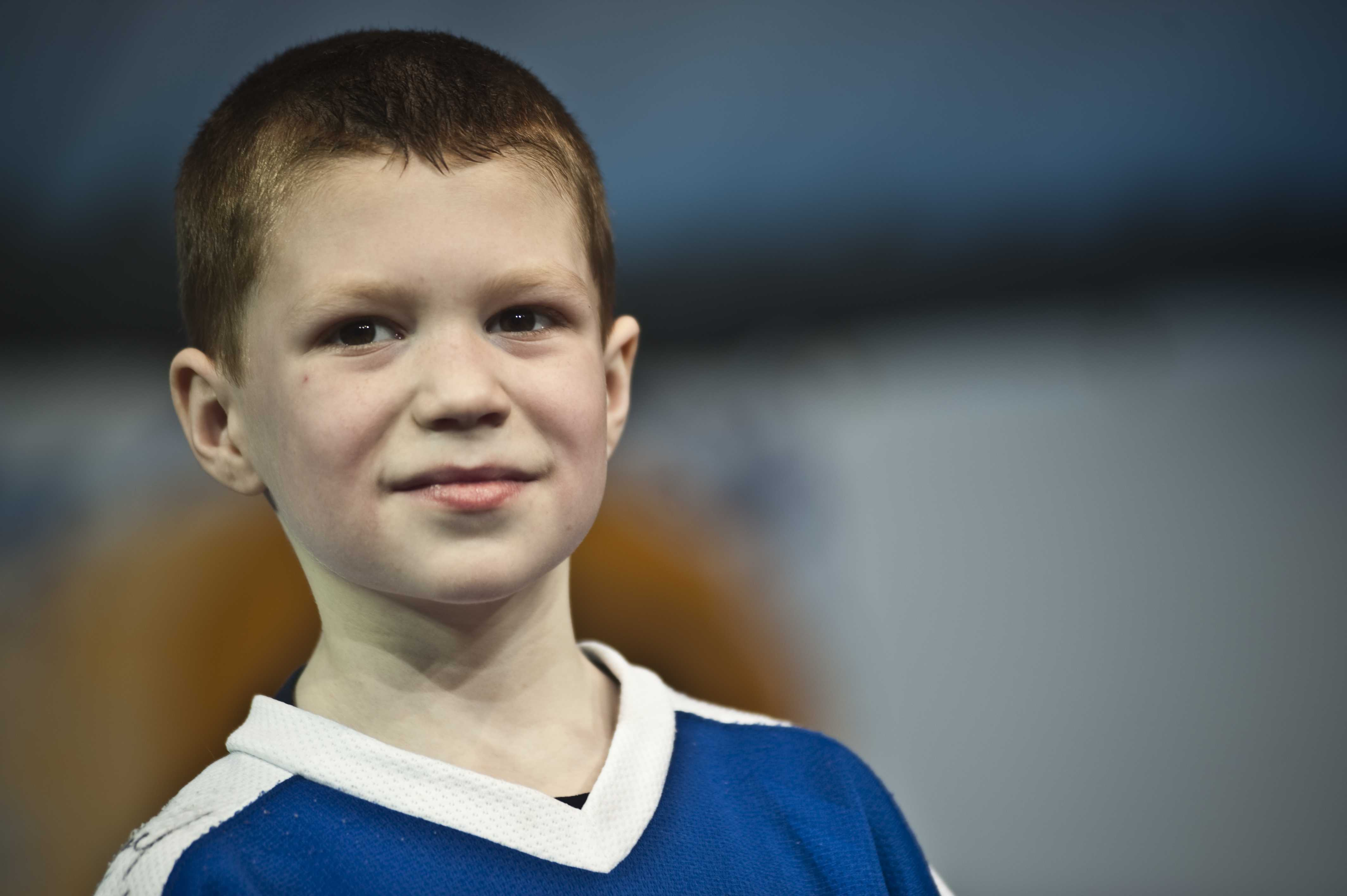 8-year-old Nick Curley spoke during Block 9. Curley raised nearly $40,000 for the Danny Did Foundation by ice skating over 100 miles.