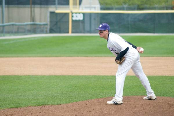Junior Kyle Ruchim pitches during a home game last season. Northwestern will face Missouri on Friday.
