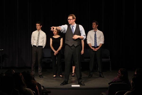 Members of The Second City perform Wednesday night at Alianza and SHPE'S 14th Annual Comedy Beatdown. The show also featured comedian Mark Viera.