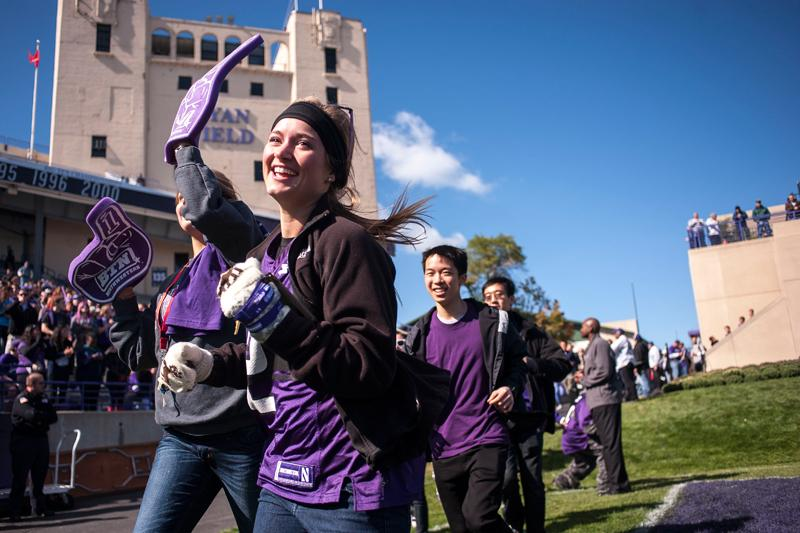Members of the Class of 2016 run onto Ryan Field before Northwestern took on South Dakota in September. NU sent acceptance letters Friday to less than 14 percent of its Class of 2017 applicants.