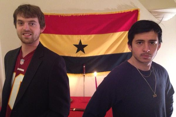 Colin Gilliland (left) and Mitch Steinfeld are the co-founders of an NGO in Ghana that seeks to give education and support to children in Ghana.