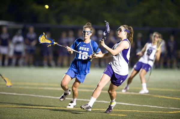 Junior Alyssa Leonard shoots during a home game against Duke last season. Leonard leads the Wildcats in draw controls with 37 in four games.