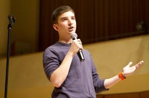 A&O Winter Speaker B.J. Novak's props, jokes draw laughs