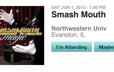 Smash Mouth leaked a performance at Northwestern on their Facebook page Friday afternoon.