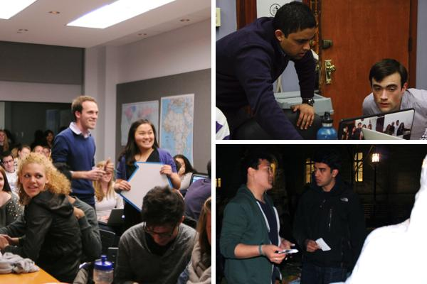 The campaigns for David Harris and Josephine Lee (left), Ani Ajith and Alex Van Atta (top right) and Benison Choi (bottom right) kicked off at 12:01 a.m. Monday. Aaron Zelikovich and Henry Brooke (not pictured) also began their campaign, with a private event.
