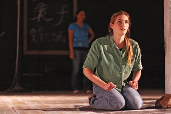 """Communication sophomore Katherine Seldin plays the shooter's wife, Carol. Although """"The Amish Project"""" sometimes feels like performance art, it ultimately handles a difficult topic with sensitivity and tact."""
