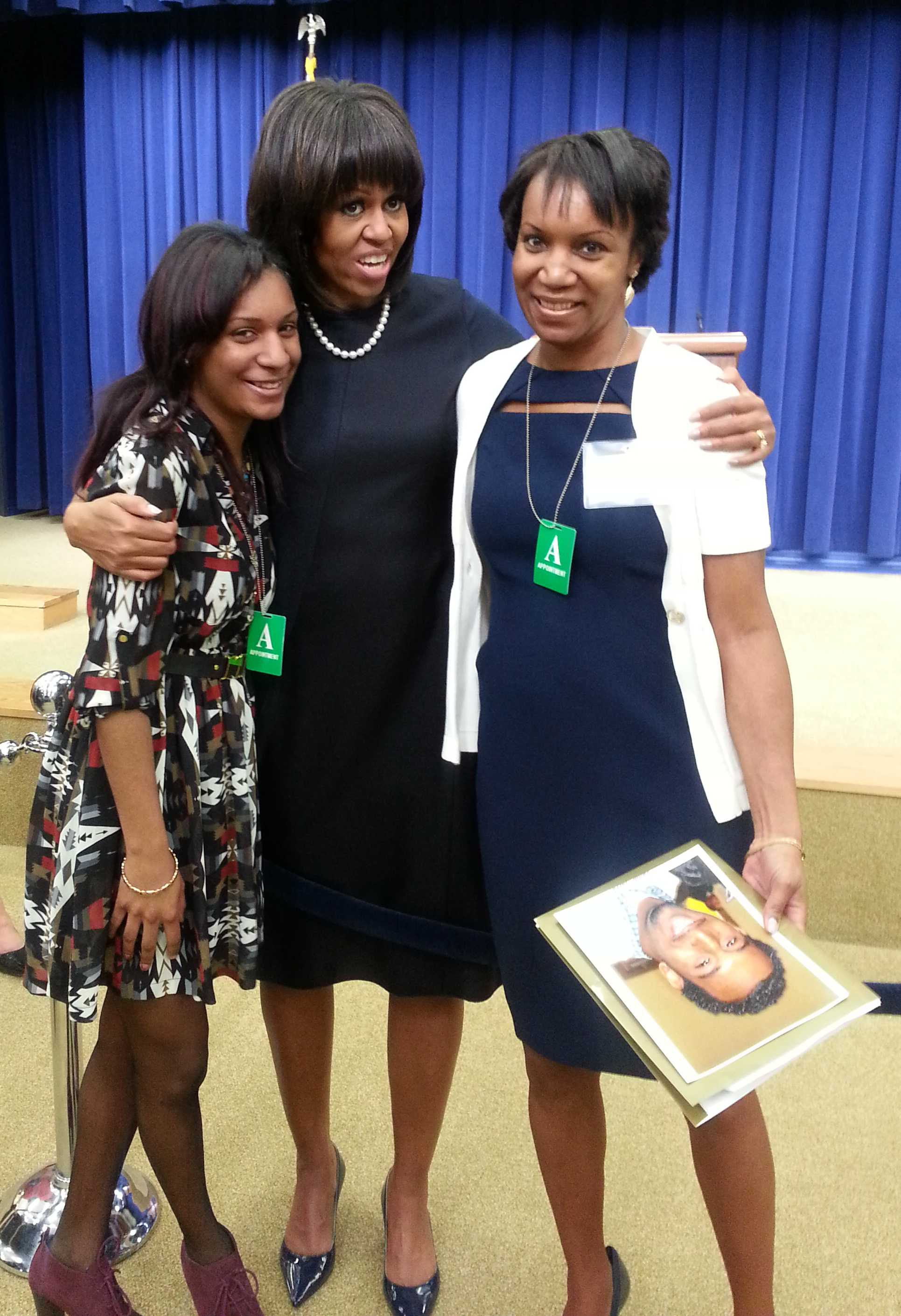 Ashton Murray (left) and Carolyn Murray (right) met first lady Michelle Obama at January's State of the Union Address. Ashton Murray will attend an anti-youth violence luncheon Wednesday with Obama and Chicago Mayor Rahm Emanuel.