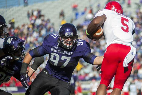 Northwestern defensive end Tyler Scott said he has to work on being more of a vocal leader. The senior led the Wildcats with 9 sacks last season.