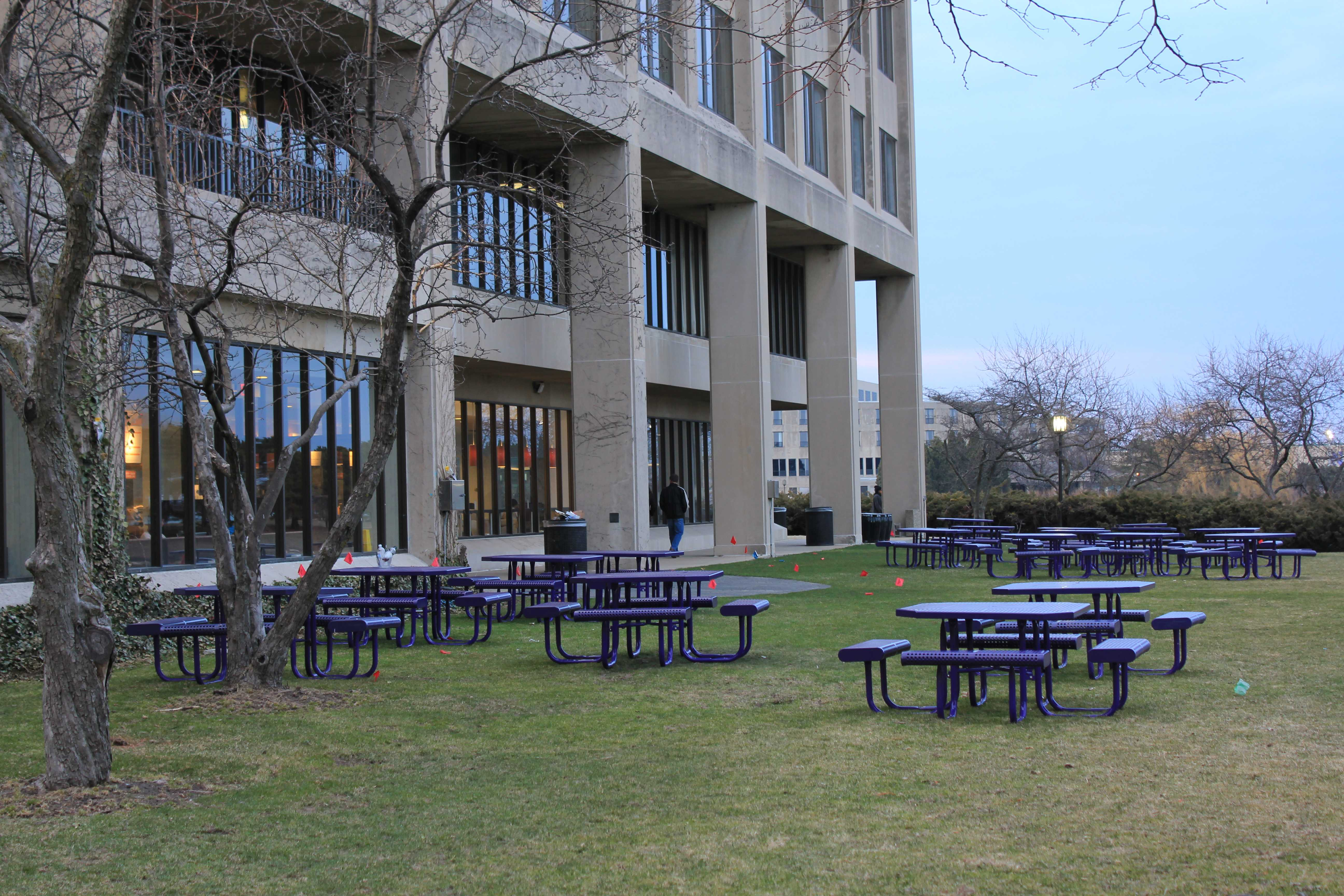 More picnic tables and benches will be installed around campus after that proposal won $10,000 from ASG's 10K Initiative.