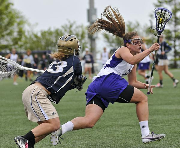 Northwestern midfielder Alyssa Leonard scored the game-winning goal with a little more than six minutes to play against Syracuse. Leonard is the Wildcats' second-leading scorer with 19 goals this year.