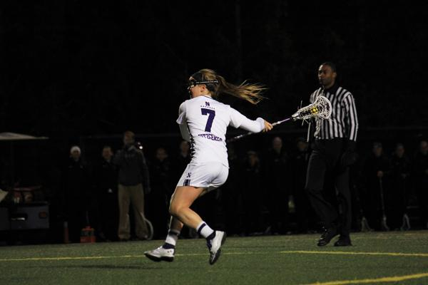 Northwestern attacker Erin Fitzgerald scored four goals in the Wildcats' win over Penn State. The senior now has a team-leading 36 goals this season.