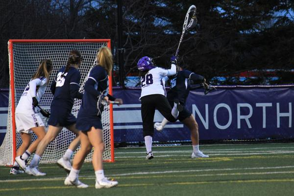 In her first season as a starter, Northwestern goalie Bridget Bianco has led the Cats to a 13-1 record with a .497 save percentage.