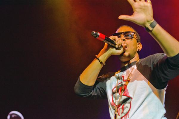 Hip-hop artist Ludacris performs at the A&O Ball on Saturday night. The event was held at the Riviera Theater in Chicago.