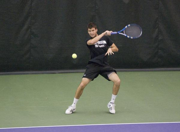Northwesterns Chris Jackman has the best Big Ten singles record at 6-1. His only loss came last weekend when he lost in three sets to Michigans Alex Buzzi.