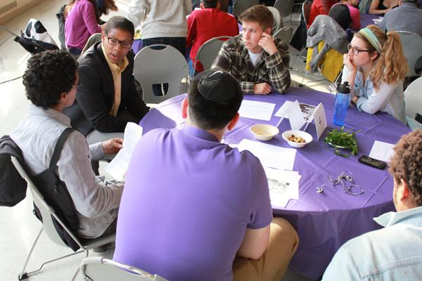 Students and other NU community members gathered in Parkes Hall for the annual Black Jewish Freedom Seder, where they engaged in conversations on topics touching the black and Jewish communities.