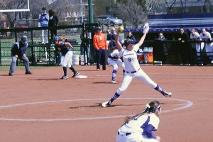 Softball: Northwestern's Amy Letourneau notches second no-hitter in two weeks in sweep of Illinois