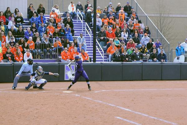 Northwestern pitcher Meghan Lamberth got the crucial hit in Sunday's win over Purdue. The senior also threw a complete game in the Wildcats' 4-1 win over the Boilermakers on Saturday.