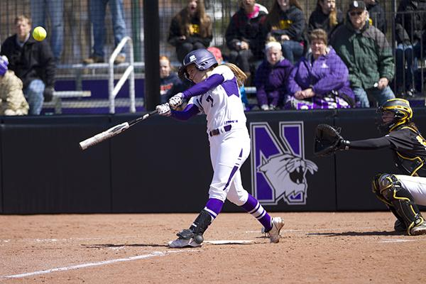 Northwestern shortstop Anna Edwards hit two home runs in Saturday's loss to Iowa while compiling a career-high 6 RBI. The sophomore is hitting .342 with 7 homers and 31 RBI this season.