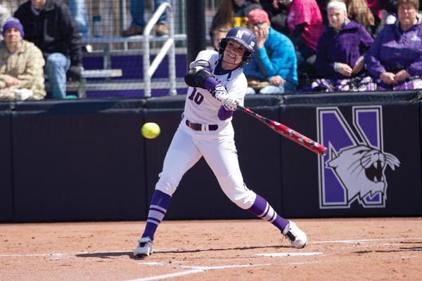 Sophomore Andrea DiPrima hit a 3-run homer in the bottom of the fifth inning to give Northwestern its first lead of the game. The Wildcats went on to put up 4 more runs that inning, thanks to hits from the top of their batting order.