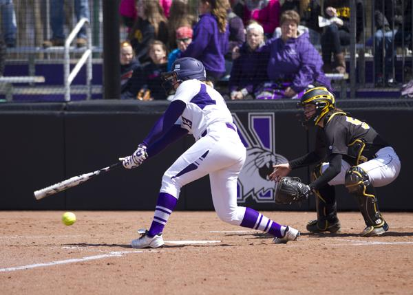 Sophomore Olivia Duehr batted the No. 9 spot for NU against DePaul. Her 1 hit of the contest was a 2-out double to right-center field that gained the Cats 2 runs.