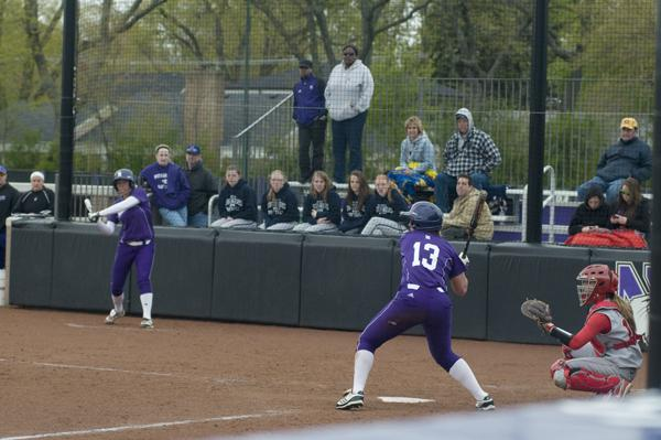 Northwestern outfielder Olivia Duehr had one of the Wildcats' three hits against Loyola (Chicago) on Tuesday.