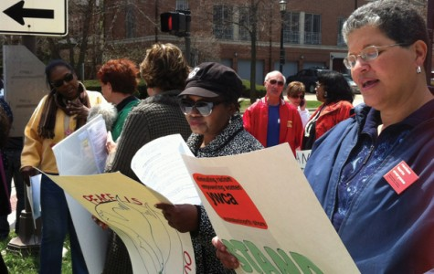 Evanston residents stand against racism