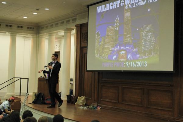 Director of the First Year Experience, Joshua McKenzie, announces the addition of a Wildcat Welcome Day at Millenium Park. The event is slated to open Wildcat Welcome in 2014.
