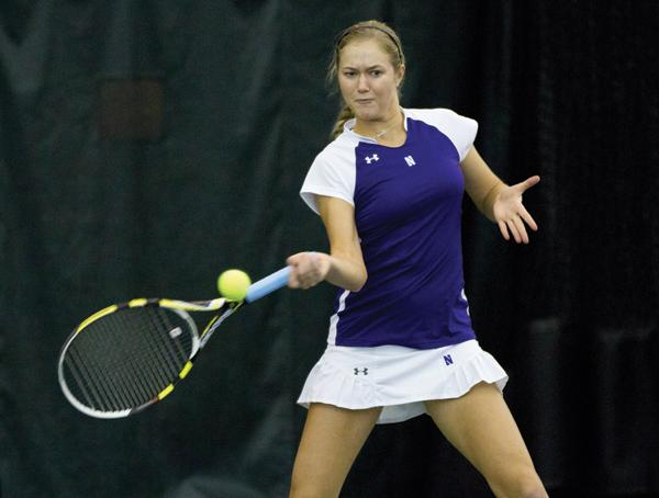 Northwestern's Veronica Corning is 13-7 in singles play this season and has won two straight matches. The junior's last match was her first this season at the No. 1 slot, which she won in a thrilling third-set tiebreaker.