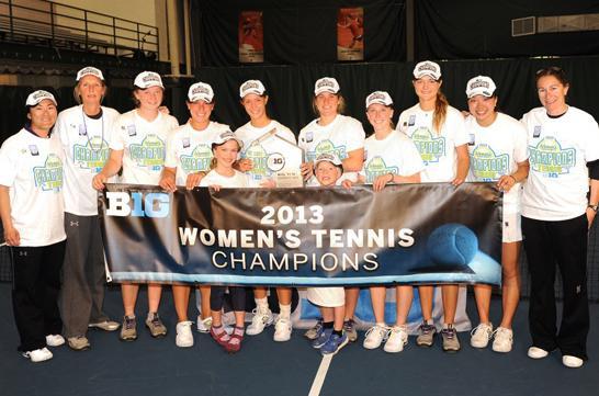 Northwestern's women's tennis team won its 14th Big Ten championship in 15 years Sunday, knocking off Michigan 4-1.