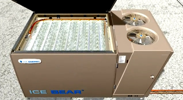 Evanston will receive an Ice Bear unit, pictured here from an animated tutorial, as part of its new contract with Verde Energy for electricity aggregation. The energy-saving box recycles water to cool off air conditioner compressors.