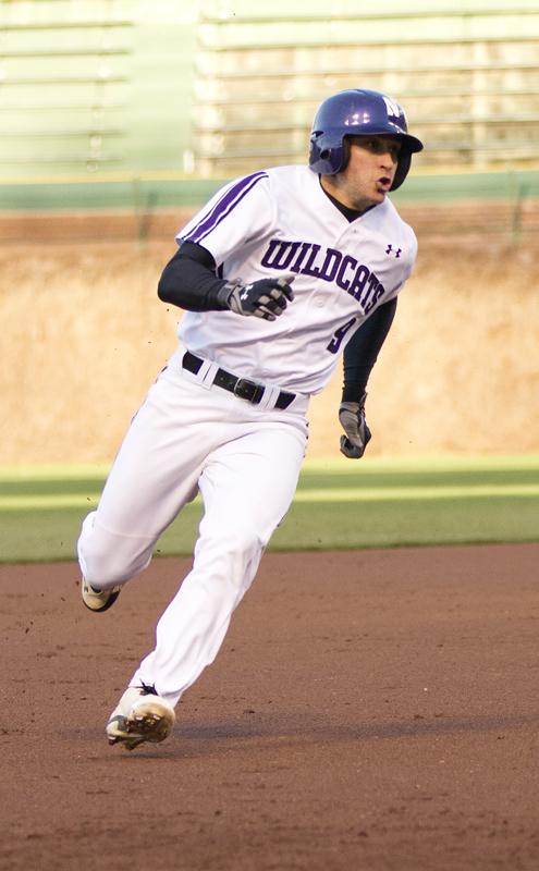 Northwestern center fielder Kyle Ruchim went 2-for-4 at the plate and scored both runs for the Wildcats. The junior leads the team with a .347 batting average and is second on the squad with 27 runs scored.