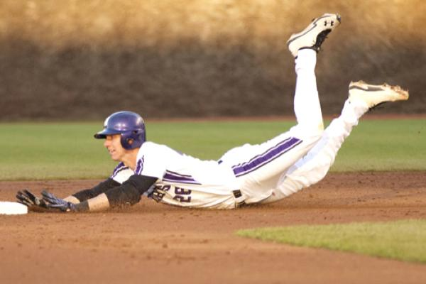 Jack Havey slides into third. Along with fellow seniors Luke Farrell and Colby Everett as well as redshirt seniors Zach Morton and Trevor Stevens, Havey was part of a veteran coalition that anchored Northwestern's success throughout the season.
