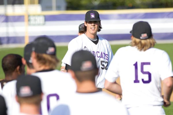 Northwestern pitcher Luke Farrell came back from his second benign tumor in three years last season to make an impact for the Wildcats this year. The senior leads the team with a 1.84 ERA and is tied for the Big Ten lead with 78 strikeouts this season.