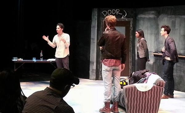 "Former ""Scrubs"" actor Zach Braff (Communication '97) led an acting workshop for theater students Monday afternoon. Students were able to perform select scenes from Braff's play, ""All New People."""