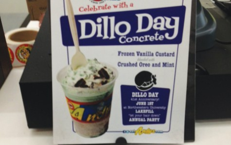 Andy's Frozen Custard is one of the Evanston restaurants using new menu items to help advertise Dillo Day. Their Dillo custard includes mint and Oreo toppings.