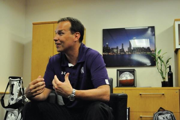 Northwestern's new men's basketball coach Chris Collins sat down with The Daily on Tuesday to discuss his vision for the Wildcats. Collins said he wants to build a relationship with the student body in order to get them excited for the season, which starts on Nov. 9.