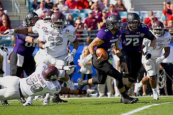 Northwestern quarterback Kain Colter is best known for his exploits on the gridiron, but he says his best sport his golf. He is a fan of Tiger Woods and his grandfather said he wanted Colter to be the next incarnation of the famous golfer.
