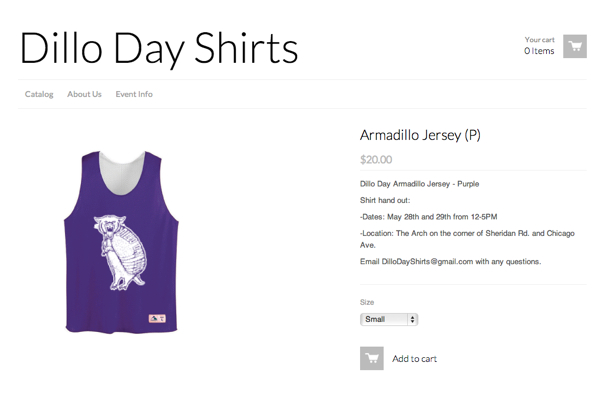 A website selling unauthorized Dillo Day merchandise was shut down Wednesday after Northwestern's Office of General Counsel got involved.