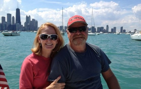 Michael Kerr and his sister Jacquelyn Rowles pose for a photo at the Chicago Air and Water Show last year.