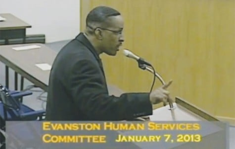 John Bamberg, father of slain Evanston man Javar Bamberg, speaks Jan. 7 at a Human Services Committee meeting. Bamberg plans to sue the city, the Evanston Police Department and the Evanston fire department in the coming weeks over the handling of his son's death and investigation.