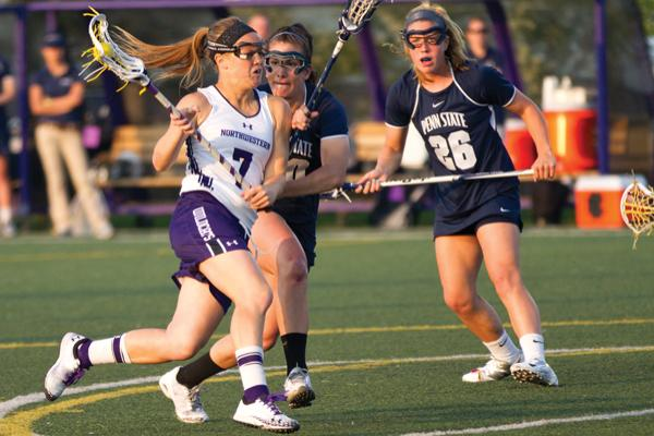 Senior attack Erin Fitzgerald leads Northwestern in goals with 59 so far this season. Fitzgerald, who upon graduation will move back to New York to start working, said she will miss her quirky teammates and playing on Lakeside Field.