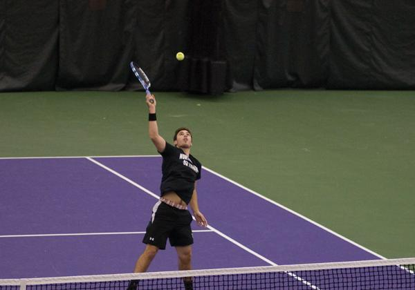 Northwestern tennis player Raleigh Smith has won 20 doubles matches this season. The doubles point will be crucial for the Wildcats to advance in the NCAA Tournament.