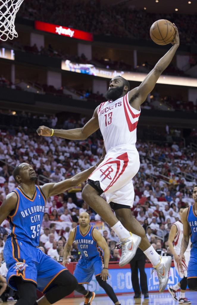 While+James+Harden+and+the+Rockets+are+down+3-1+to+the+Thunder%2C+Harden%27s+playoff+beard+is+in+full+force.