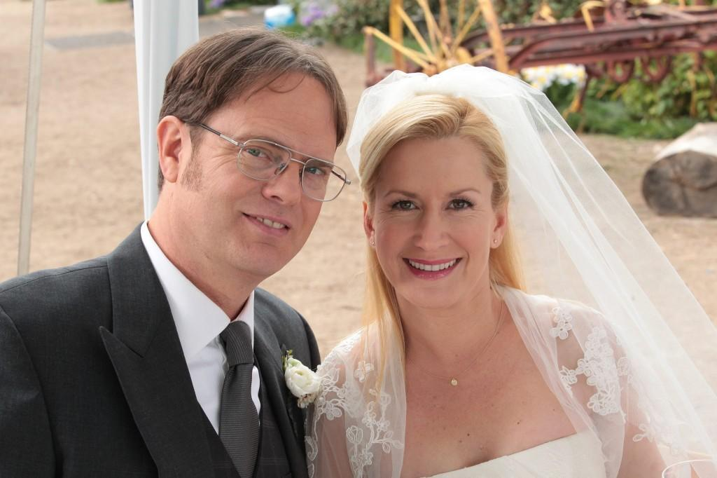 In one of many happy endings for The Office, Dwight and Angela were finally married. The wedding featured Michael Scott as best man.
